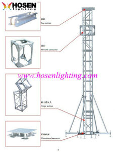 Truss tower system single lifter HS-TTS-1