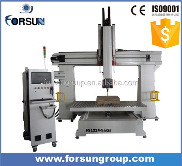 High quality 5 axis sculpture wood carving cnc router machine