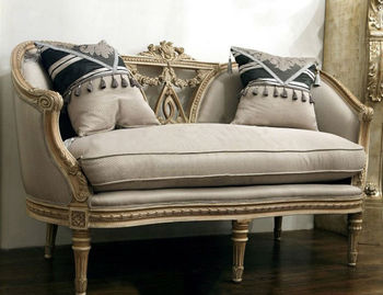 Luxury Spanish Wooden Living Room Three Seat Sofa With Hand Carving And  Antique Finishng Workmanship