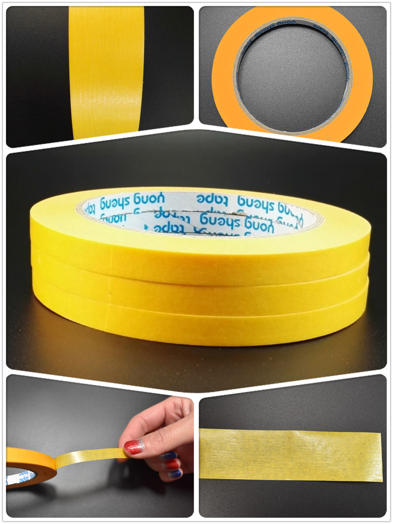 Washi tape high temperature masking tape for 4S automotive store