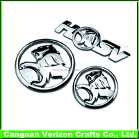 Manufactuer brand car emblems and their name, printing custom car emblem
