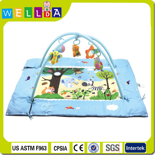 Lovely custom design Eco-friendly square mat kids play mat