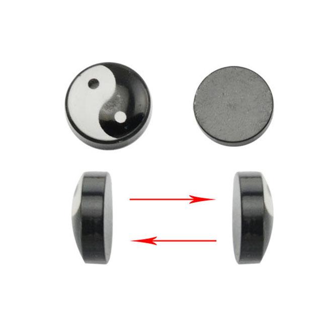2 unidades imán fakeplugs en blanco o negro unisex