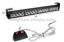 16 LED Front-Rear Window Mount Bright Directional Strobe Warning Light