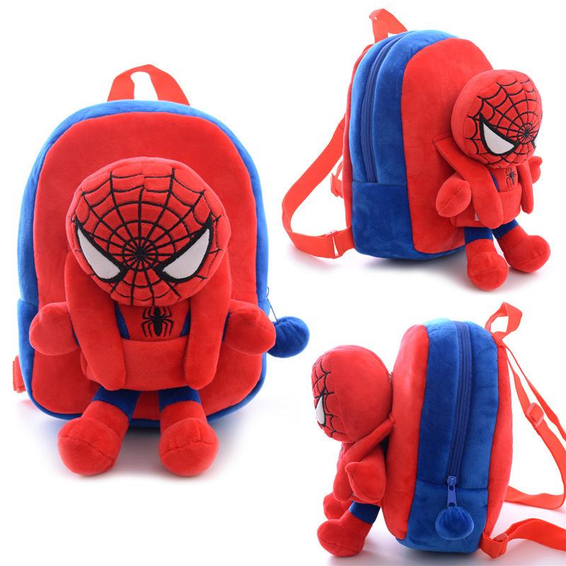 3ada766d3b Get Quotations · Hot Sale Spiderman Backpacks Plush Cartoon School Bag  Children School Bags Kids Backpack mochila Child With