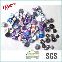 Fancy Decorative Custom Printing Bulk clothing snap fasteners