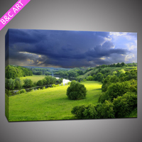 Living Room Lowes Cheap Wall Paneling Green Meadow Home Decoration Modern Painting