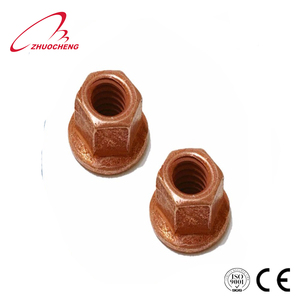 High quality brass serrated hex flange nut DIN6923