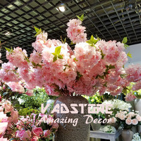 Artificial cherry blossom branch Flower Plant Home Wedding Party Decor big silk table wedding centerpiece flower
