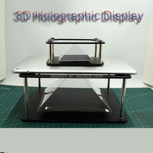 OEM logo 3D Holographic Hologram Display Pyramid Prism Project For Mobile phone Tablet PC