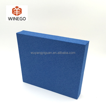 Modern sound absorbing fabric covered wall panel for auditorium