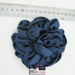 Fashion Black Decorative Polyester Handmade Satin Ribbon wedding flower for Wedding Dress Decoration