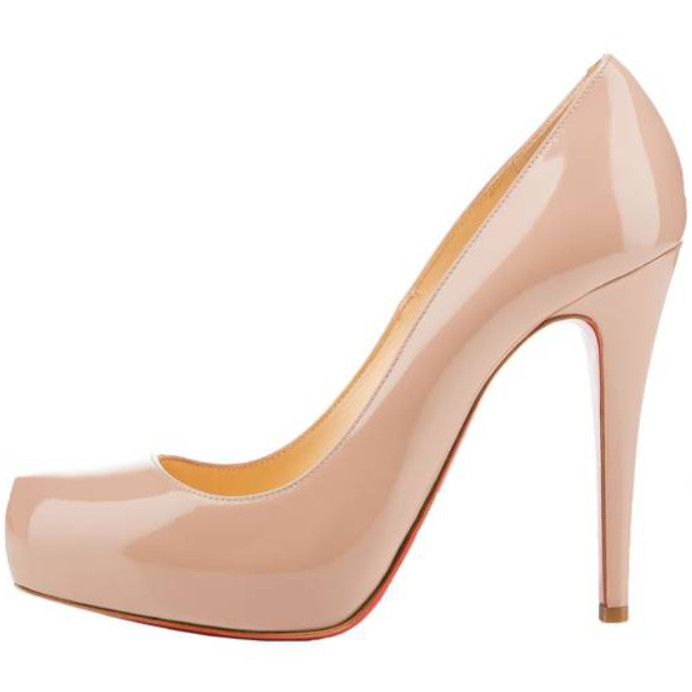 ec2bcb2fb1d Get Quotations · Nude Black color 12 cm red bottom high heels shoes woman  platform thin heels Patent Leather