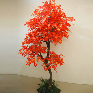Large artificial decorative wooden tree artificial red maple tree for weddings