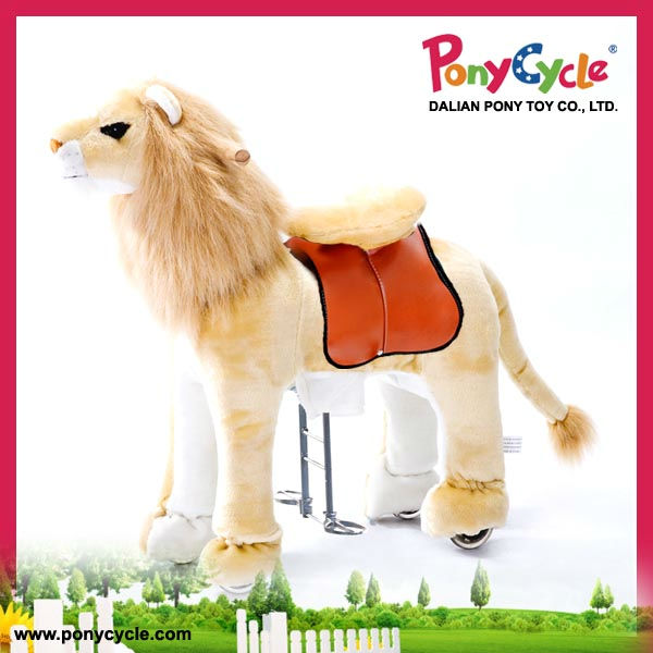 Pony Cycle riding facility plush lion rocking lion kid riding lion toy