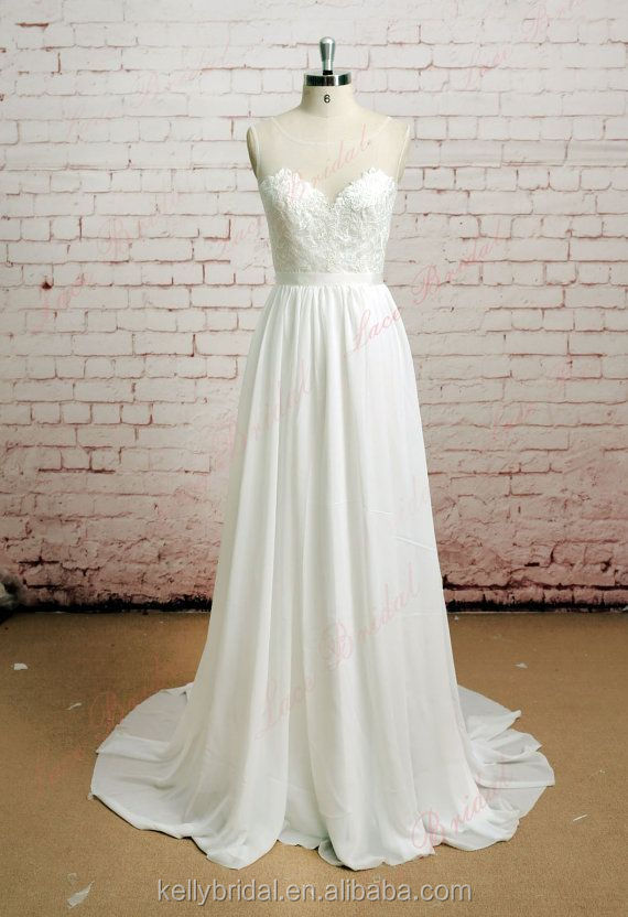 zm16056 summer see through lace and chiffon engagement dress simple