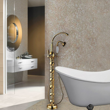 Classical Floor Mounted Bathtub Faucet Brass Mixer Tap