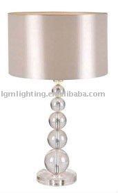 Modern Crystal Base Pvc Lampshade Table Lamp