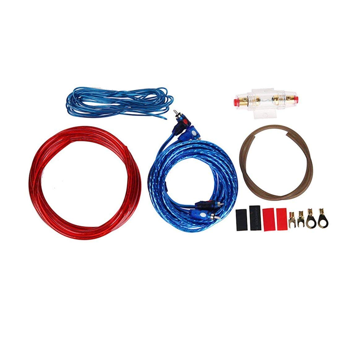 Cheap Car Subwoofer Wiring Kit Find Deals Amp Get Quotations Bunner 1 Set Audio Connected 8 Gauge Wire Amplifier Speaker