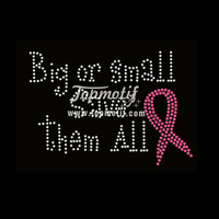 Big Or Small Save Them All Bling Iron On Transfers Wholesale