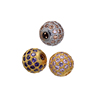 Wholesale Fashion European Style Micro Crystal Paved Spacer Brass Beads