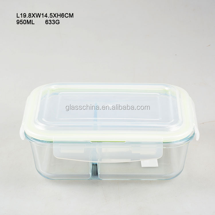 Rectangle Glass Preserving Jar with Plastic Lid