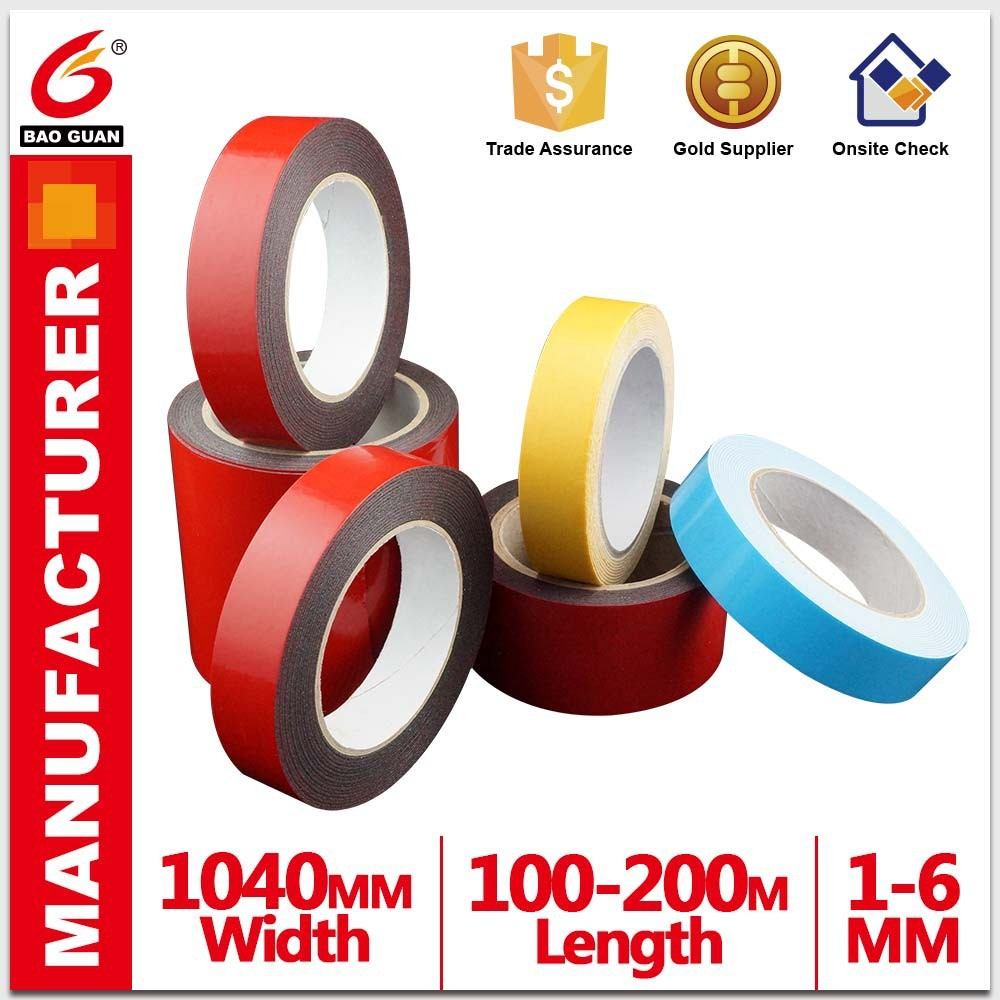 PE foam double-sided tape type temperature resistant acrylic glue