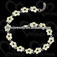 bali sterling silver chain bracelet with cz stone and low price