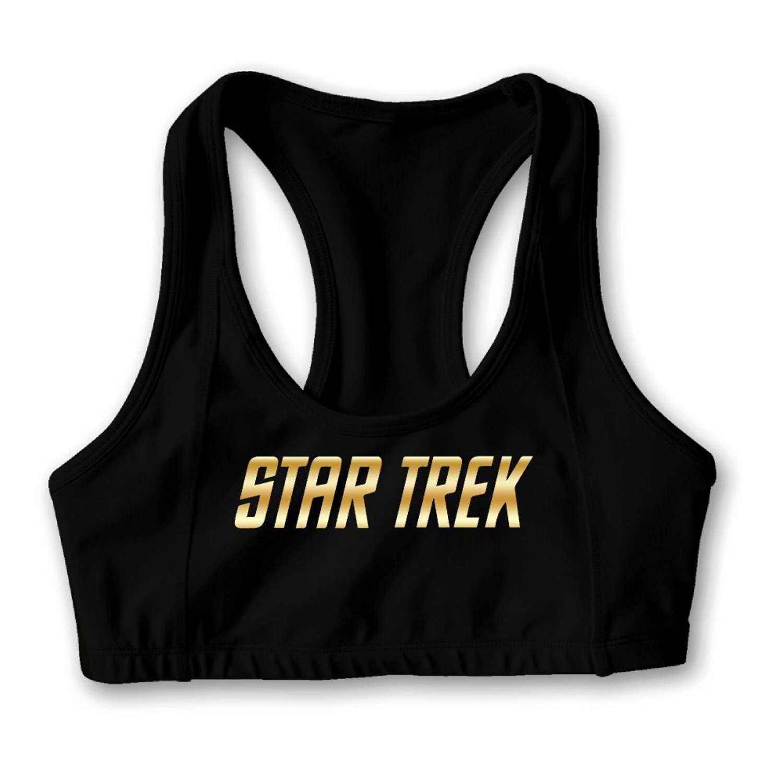 Star Trek Gold Logo Women's Oxjwn Yoga Sports Bra