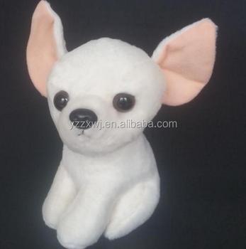 White Plush Chihuahua Dog Toys Stufeed White Chihuahua Toys Soft