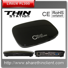 High performance black PC station cheap linux thin client model FL300 support streaming video and MS office for schools