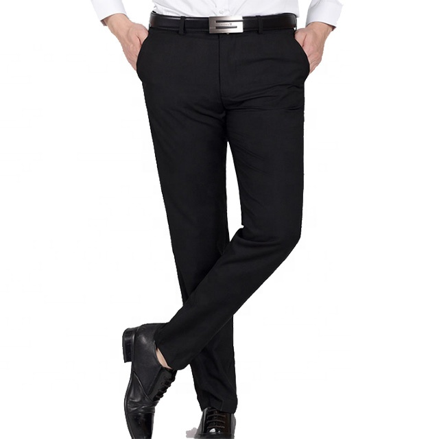 Wholesale casual trousers men's business pants slim men pant