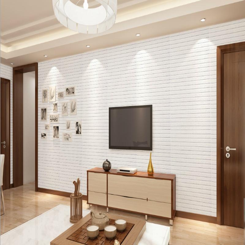 New DIY 3D Brick Pattern Wallpaper Bedroom Living Room Modern Wall Background TV Kids Decor Sticker