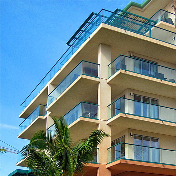 Diseño de barandilla de vidrio balcón de aluminio barandillas y ...
