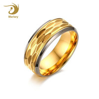 Marlary New Latest Simple Stainless Steel Men's Gold Finger Ring Designs For Men