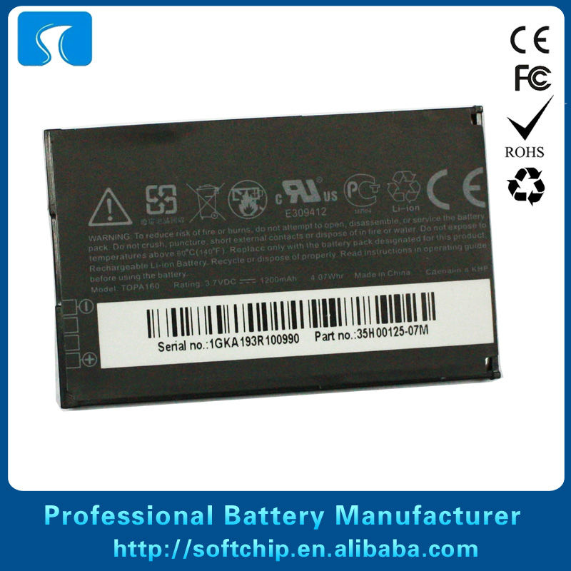 Battery for HTC Hero G3, A6262, Evo A9292,A6300, Droid incredible