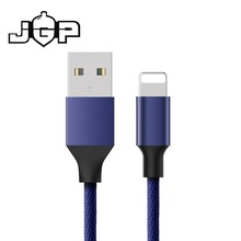 Braided nylon wire fast charging ios cable usb cord