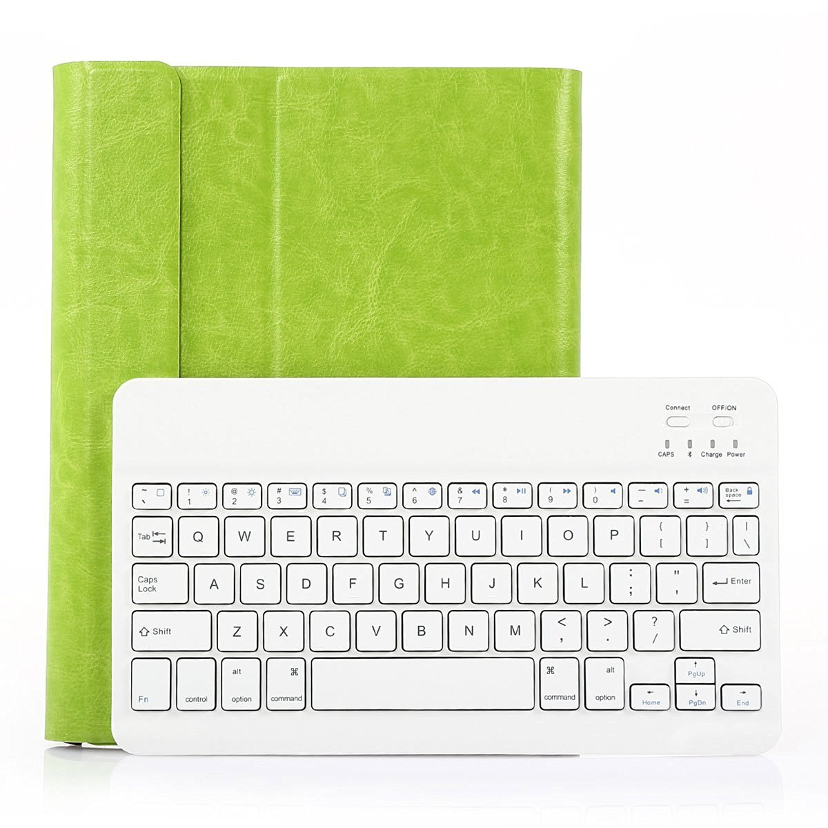 SymbolLife Thin Smart Cover with Bluetooth Removable Keyboard For Apple iPad 2 / 3/ 4 Generation, Green