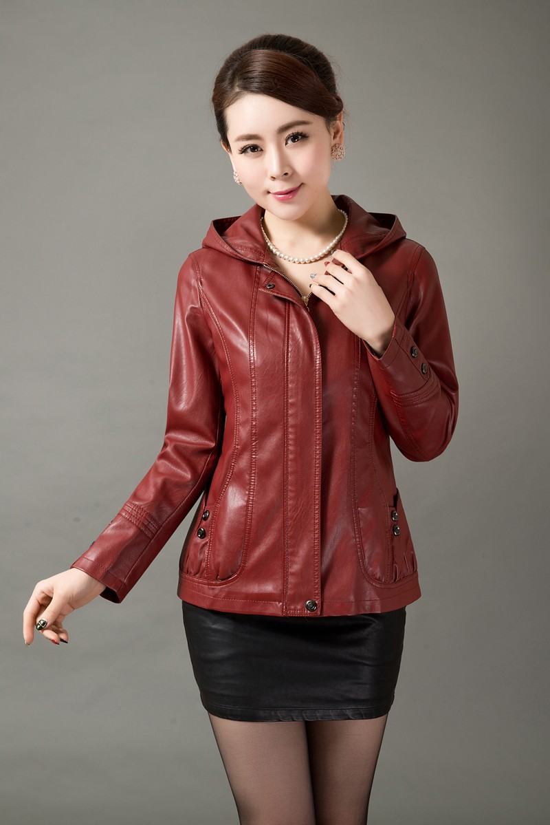 Plus size short leather jackets