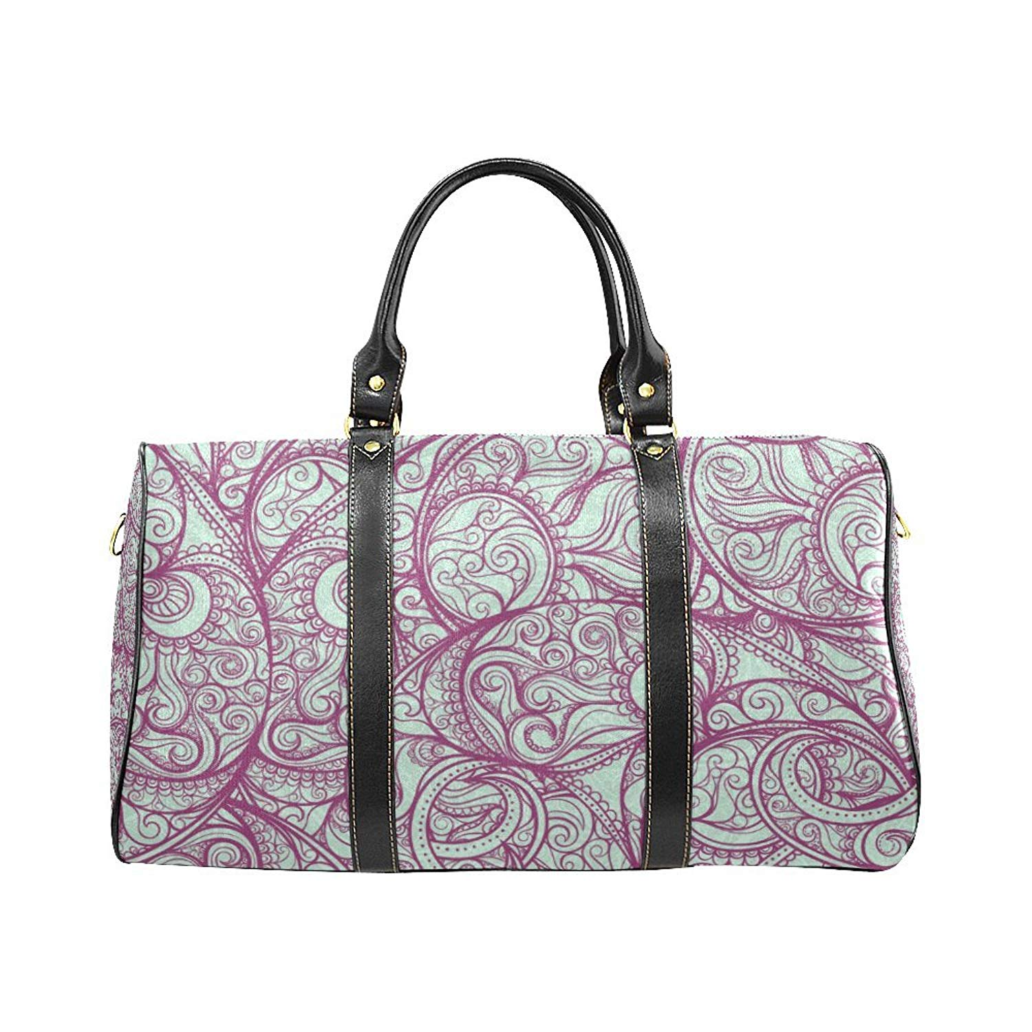 b836145786 Get Quotations · Waterproof Travel Duffel Bag Womens Weekend Bag Purple  Pattern Mens Luggage Bag For Gym Sports Overnight