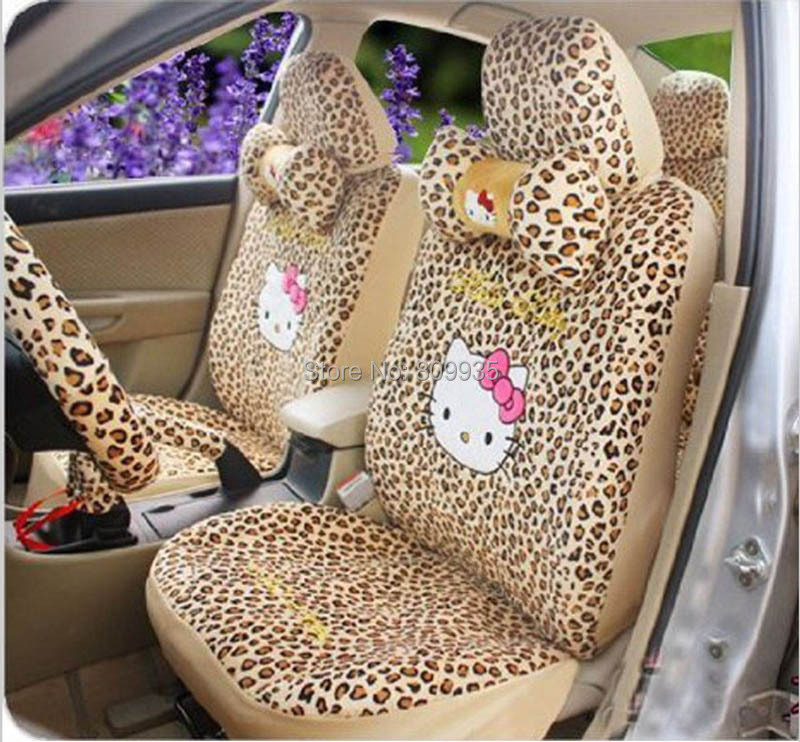 Hello kitty auto car rearview mirror cover rear seat cover - Hello kitty car interior accessories ...
