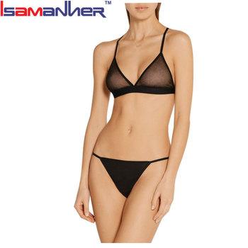 9055972bf Hot Sale Transparent Sexy Bra Set Ladies Sexy Bra Knickers Sets ...