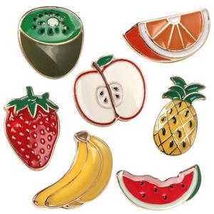 Best selling round enamel fruit imagine customized pins