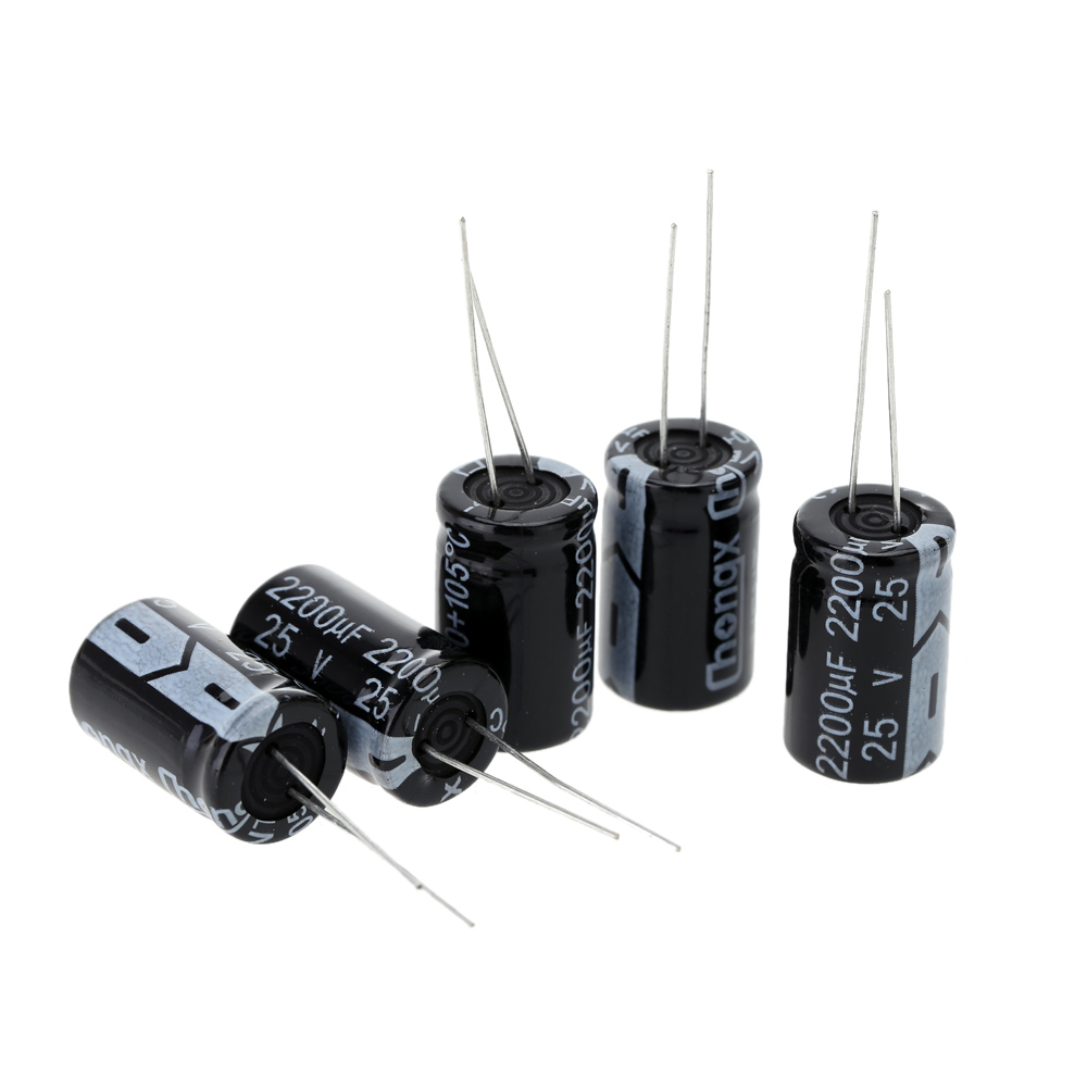 25*5pcs Electrolytic Capacitor Necessory Electric DIY Parts Package Capacitance Set 1uF-2200uF Passive Components