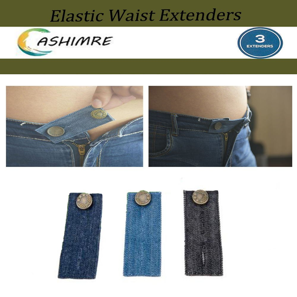 518ac4c41d42f Get Quotations · Belly Band-Denim Waist Extender/With Metal Button for Jeans  Men and Women Waist