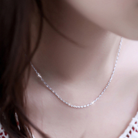 Well-designed custom 925 pure silver chain necklace