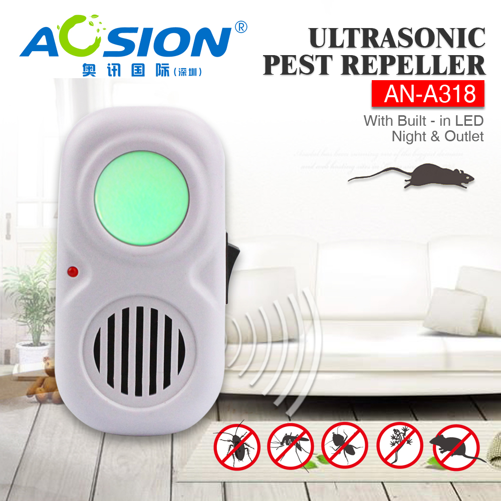 Aosion Hot Sale Ultrasonic Repeller Electronic Pest Repellent For Mosuse, Rodent,Cockroach, Spider,Bug and More Insects