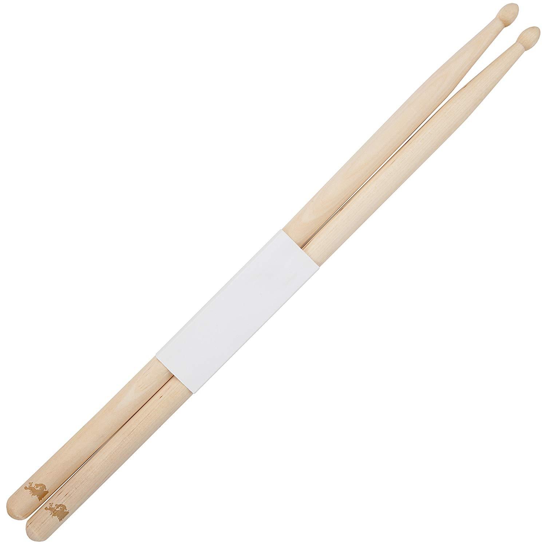 Europe 5B Maple Drumsticks With Laser Engraved Design - Durable Drumstick Set With Wooden Tip - Wood Drumsticks Gift