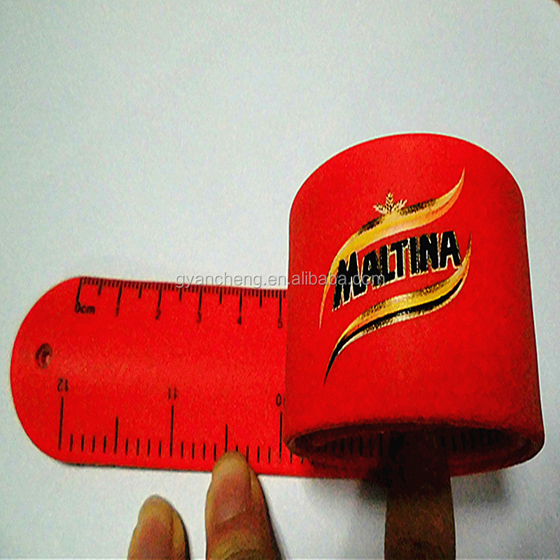 Novelty Soft Plastic Ruler/Rubber Ruler for Advertising Use/Snap Bracelet Slap Bracelet with Ruler