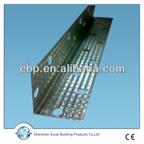 galvanized gypsum board wall angle